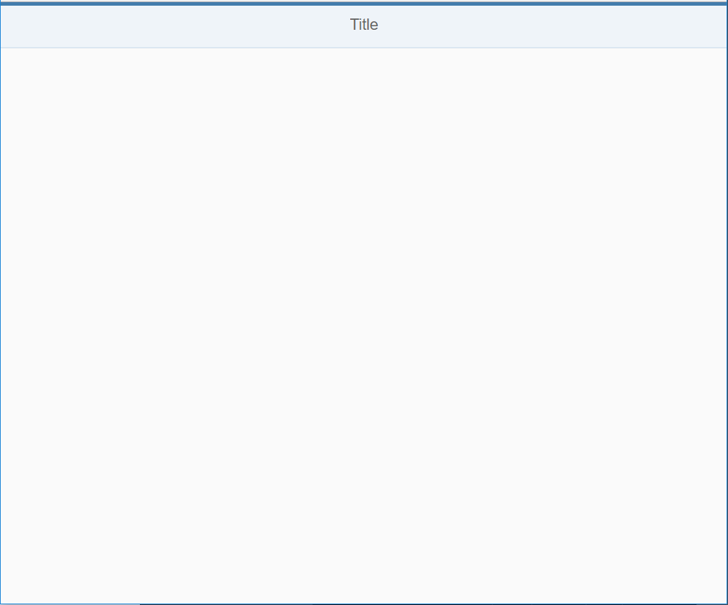 Screenshot of bare-bones SAPUI5 application