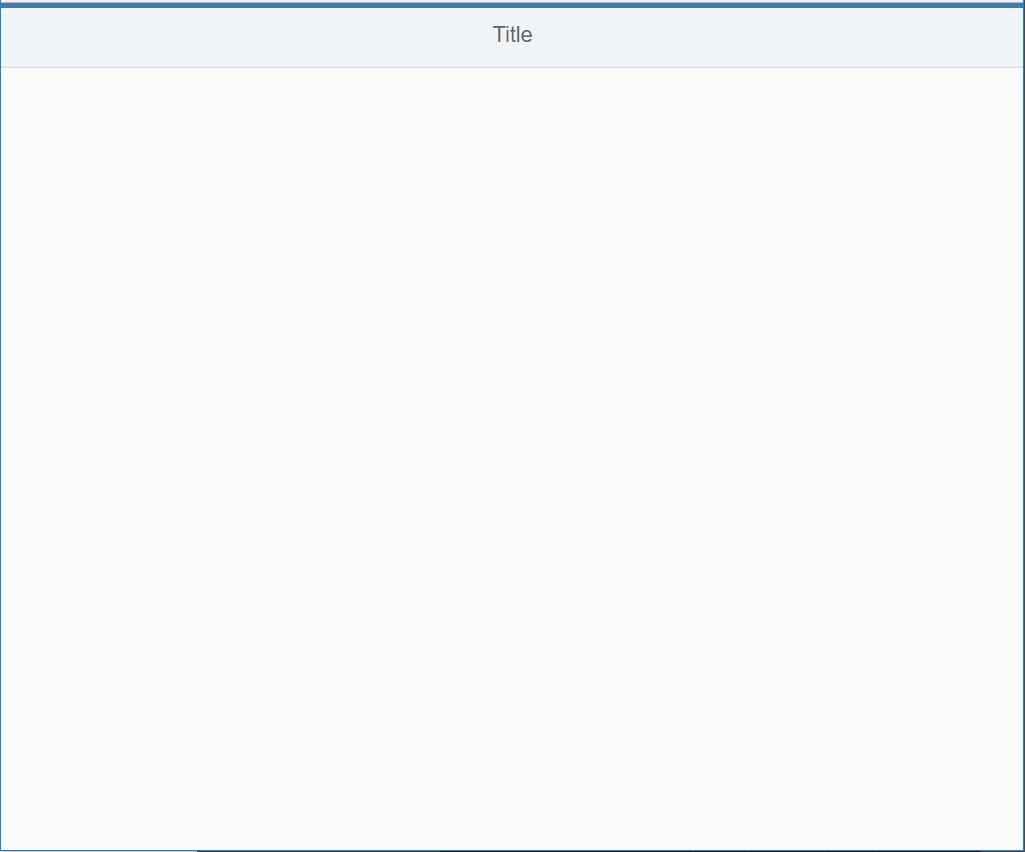 Screenshot of bare-bones SAPUI5 application